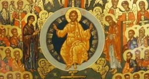 A Greek Orthodox Greek Icon of All Saints